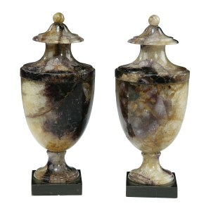 PAIR OF ANTIQUE BLUE JOHN URNS FOR SALE RICHARD GARDNER ANTIQUES