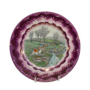 GRAYS POTTERY PLATE WITH HUNTING SCENE