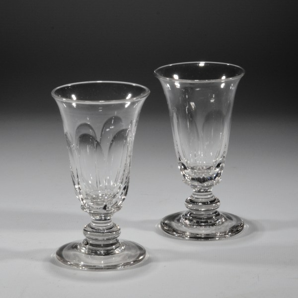 PAIR OF ANTIQUE JELLY GLASSES