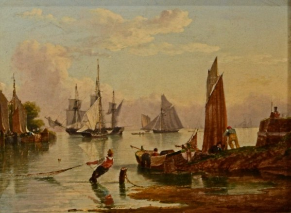 JOHN WARD OF HULL-PAIR OF OIL PAINTINGS-RIVER HUMBER