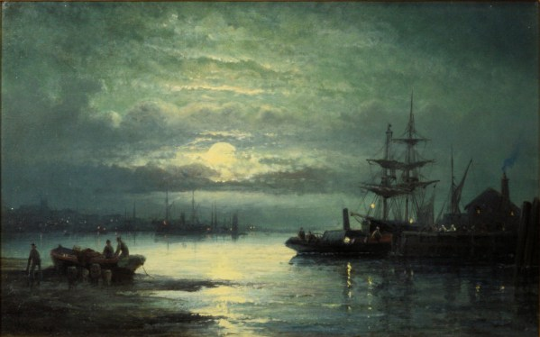WILLIAM THORNLEY-OIL PAINTING-MOONLIGHT
