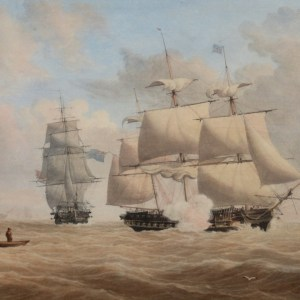 JOHN CANTILOE JOY-WATERCOLOUR-MARINE ROYAL NAVY SHIPS