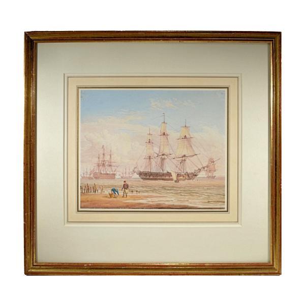 william-joy-marine-watercolour-royal-naval-ships-coast-for-sale-DSC_9763