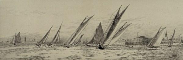 william-wyllie-etching-royal-albert-yacht-club-southsea-