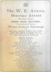 WILLIAM EDWARD ATKINS MARINE ARTIST PORTSMOUTH PAINTINGS FOR SALE