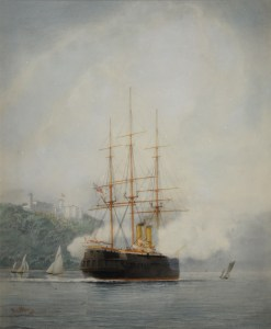WILLIAM EDWARD ATKINS-WATERCOLOUR-THE OLD INVINCIBLE