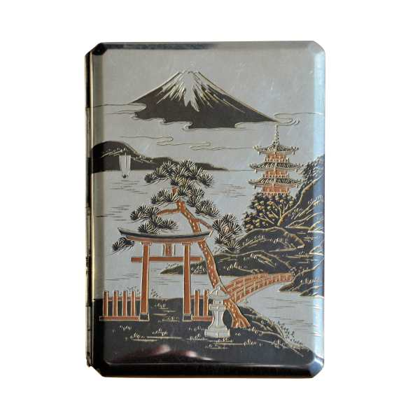 VINTAGE JAPANESE SILVER & MIXED METAL CIGARETTE CASE