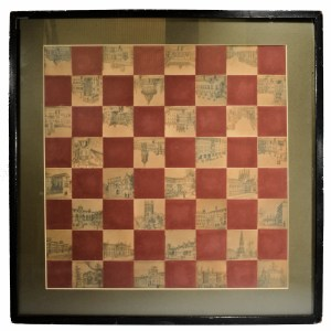 UNUSUAL CHESS BOARD USING PICTURES OF OXFORD