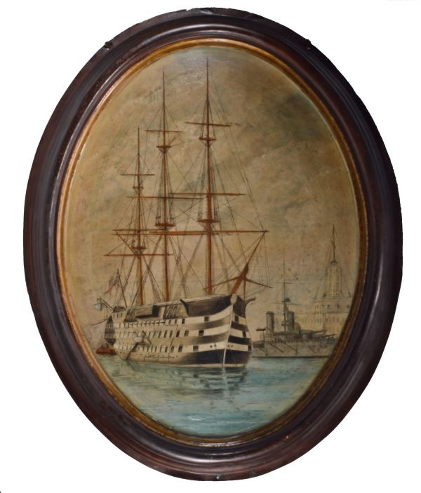 WILLIAM EDWARD ATKINS-OIL PAINTING-HMS VICTORY