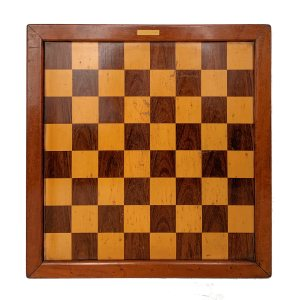 ANTIQUE JAQUES CLUB SIZE CHESS BOARD