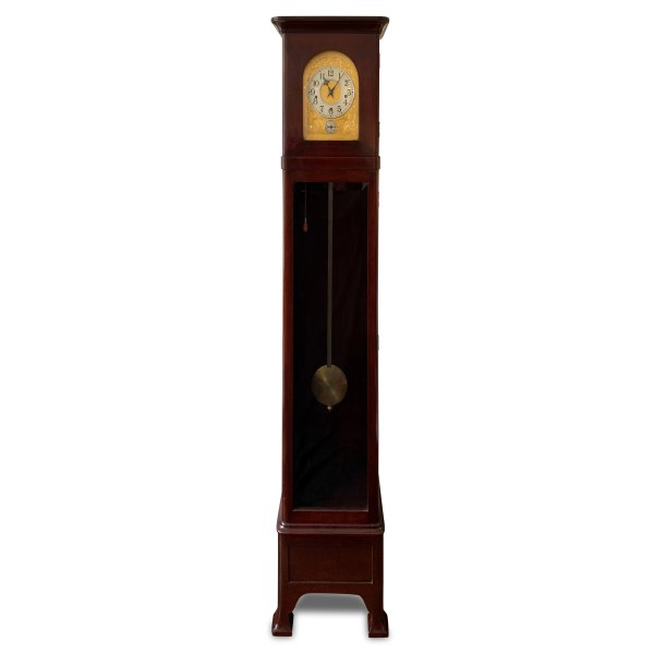 ANTIQUE MAHOGANY REGULATOR STYLE GRANDFATHER CLOCK