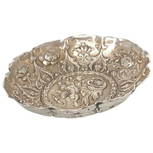 ANTIQUE SILVER PIN DISH BY WILLIAM COMYNS
