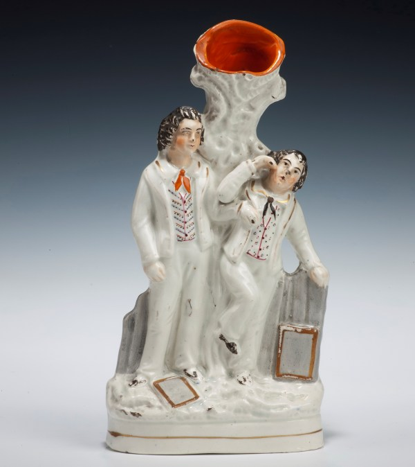 ANTIQUE STAFFORDSHIRE FIGURE OF SCHOOLBOYS