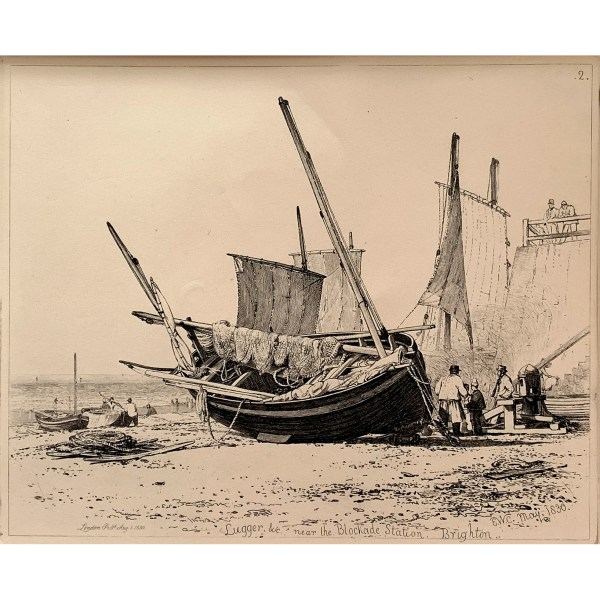 FIND E W COOKE ETCHINGS OF BOATS FOR SALE IN UK