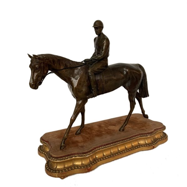 FIND ANTIQUE BRONZE RACEHORSE AND JOCKEY FIGURES FOR SALE IN UK