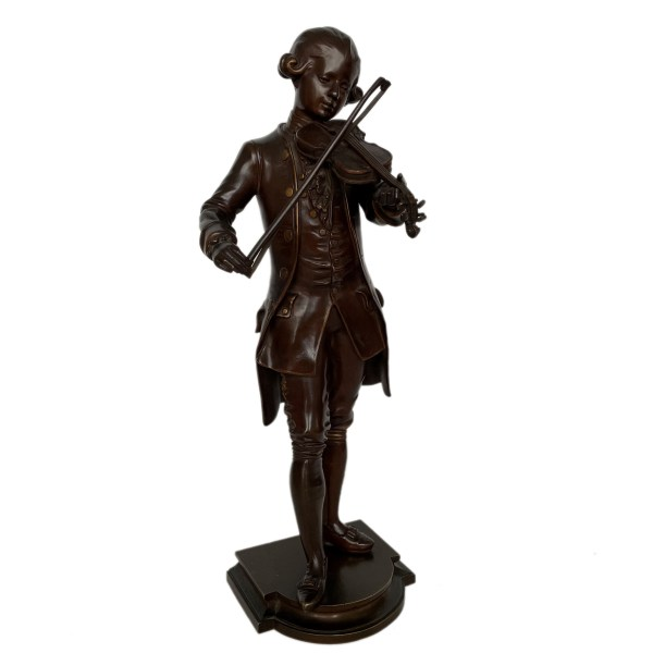 FIND FOR SALE ANTIQUE BRONZE FIGURE MOZART BY DEBUT IN UK