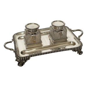 FIND ANTIQUE SILVER DESK STAND FOR SALE IN THE UK