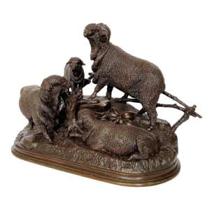 FIND ANTIQUE BRONZE FIGURES OF SHHEP FOR SALE IN UK