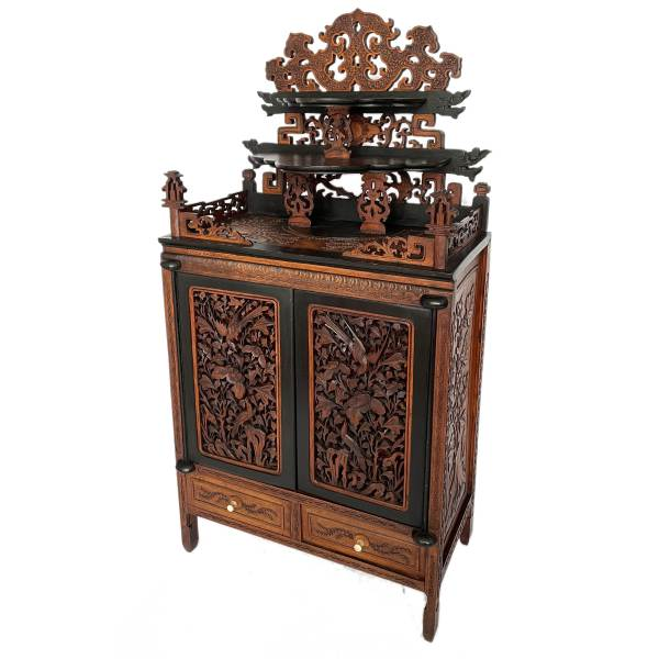 FIND ANTIQUE CHINESE TABLE TOP DISPLAY CABINET