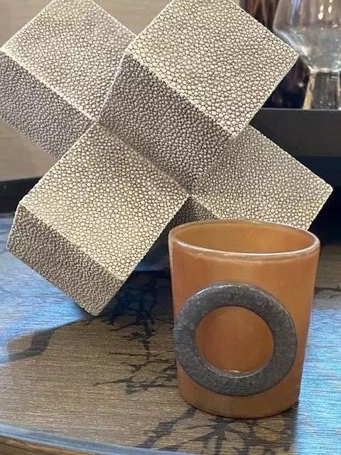 brown tealight holder