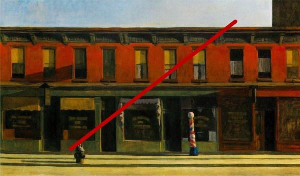 Edward Hopper Early Sunday Morning Painting