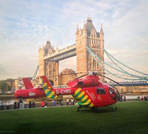 London Air Ambulance at Tower Bridge