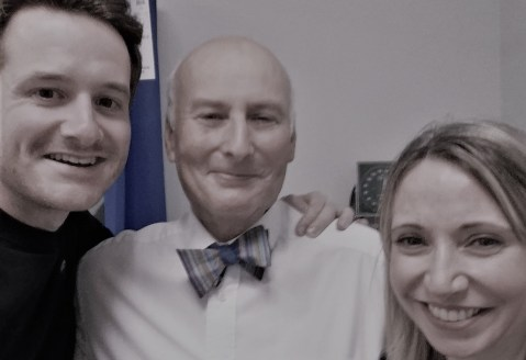My Oncologist Dr. Rob Glynne-Jones & Nurse Specialist Angela Wheeler