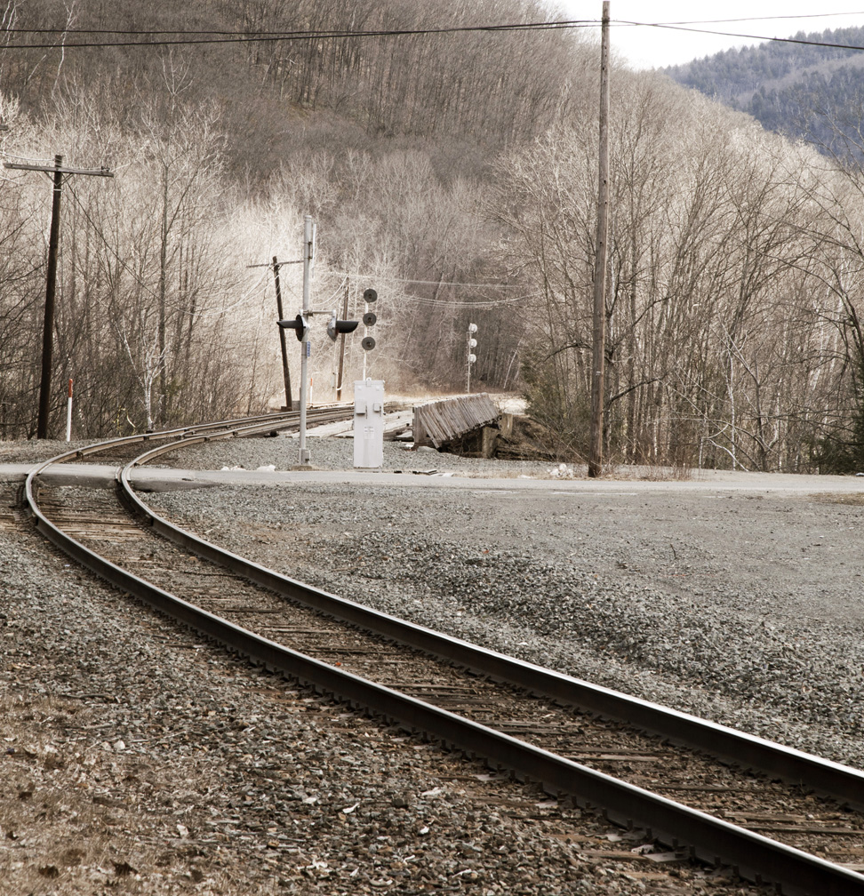 Tracks leaving the Hoosac tunnel