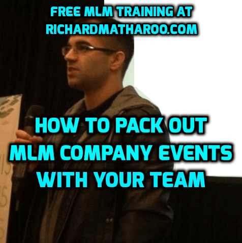 How To Pack Out MLM Company Events With Your Team