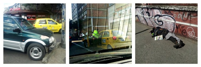 Took in a car crash, saw a police man pull a gun on a taxi driver and passed a man asleep on the street