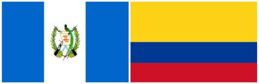 The Guatemala and Colombia flag