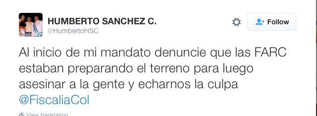 Tweet by Humberto Sanchez