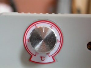 temperature setting dial