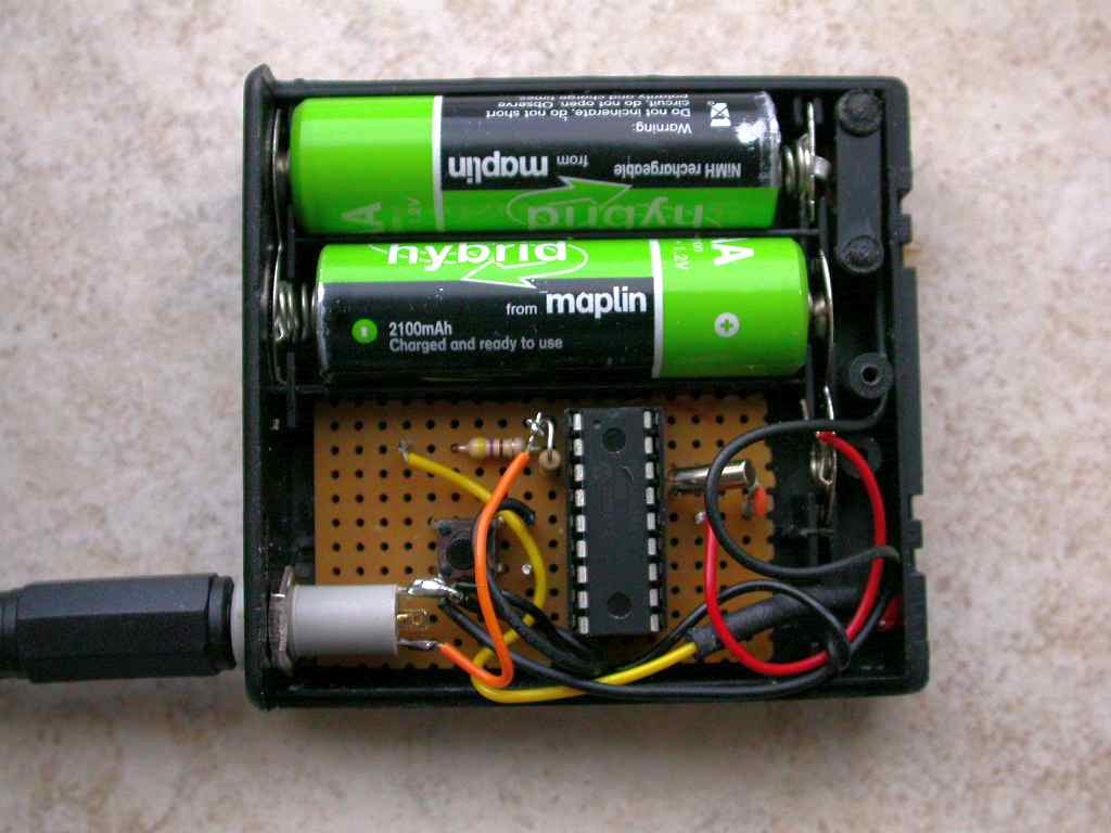 Audio Richard Mudhar Wolfson Pi Card Circuit Board For Raspberry Cancel Reply 16f628 Pic Is Fitted Into The Space Of Two Batteries In A 4 Way Battery Box Giving Me Small With Holder And On Off Switch