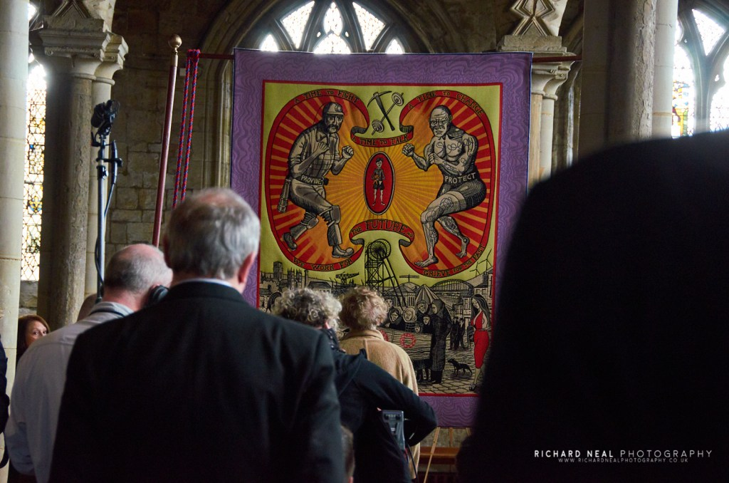 Grayson perry banner durham cathedral