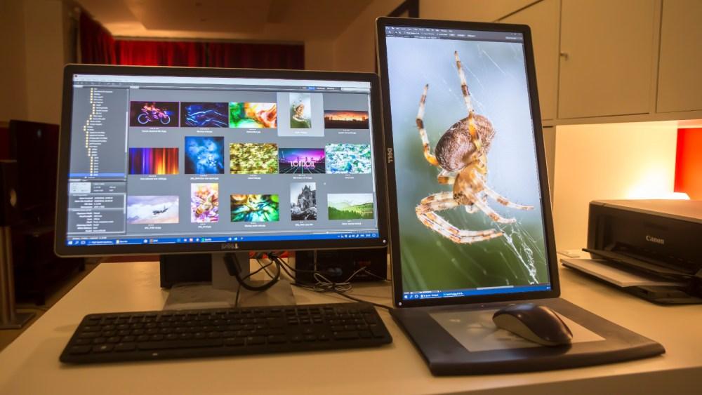 Portrait monitor dual setup