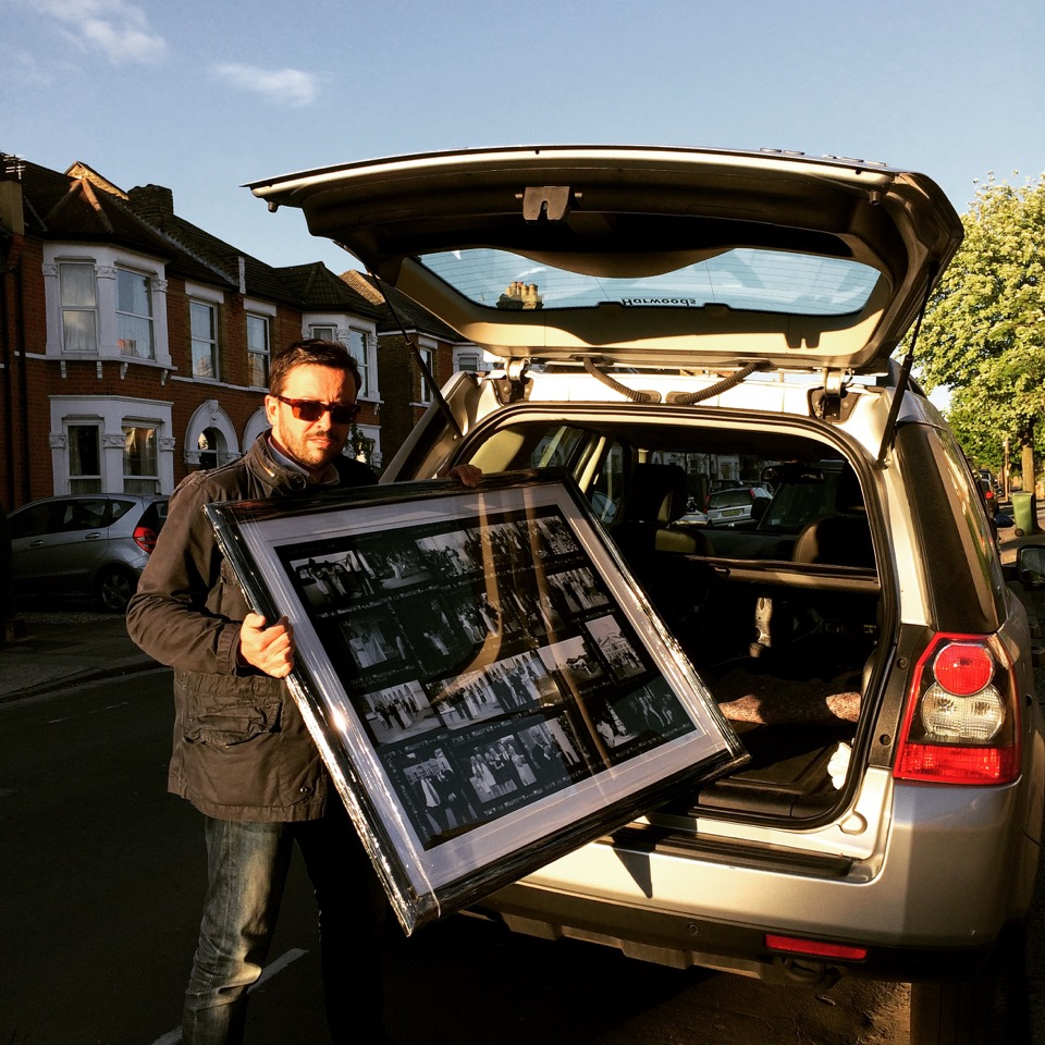 Richard Payne delivering a Contact Sheet for a client