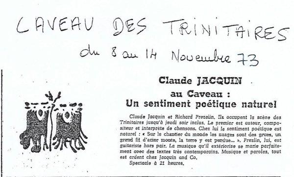 Claude Jacquin et Richard Prézelin au caveau des Trinitaires