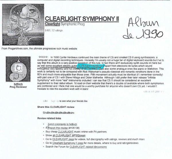Clearlight Symphony 1990 - Critique hdfisch 2013