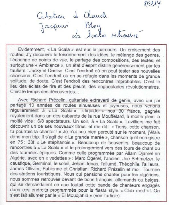 Blog La Scala retrouvée - 8 février 2014