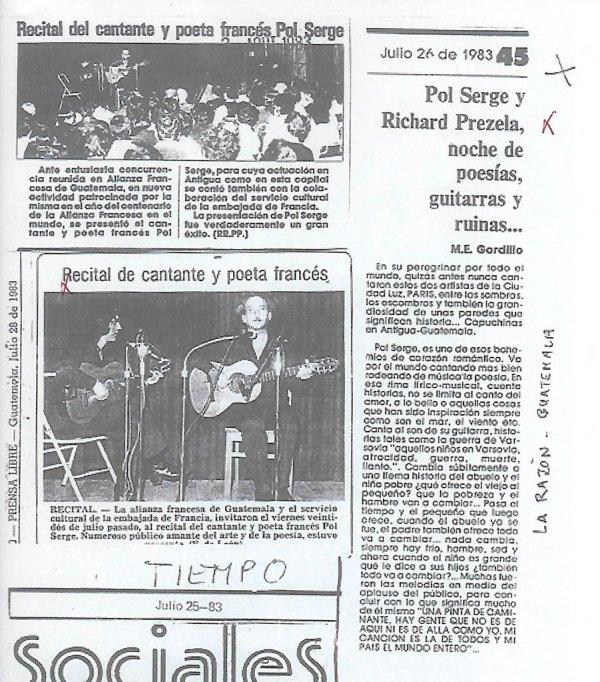 La Razon et Prensa libre - juillet 1983 - Guatemala