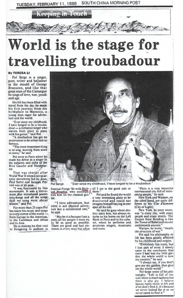 South China Morning  Post - 11-fevrier-1986 - Hong-Kong