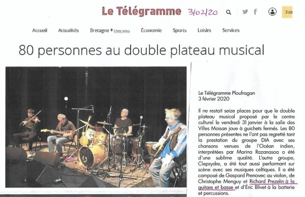 Clepsydre presse Telg 3 février 2020