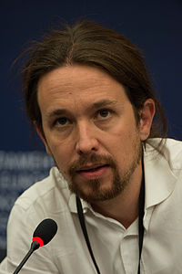 Pablo Iglesias Turrion, founder and leader of Podemos