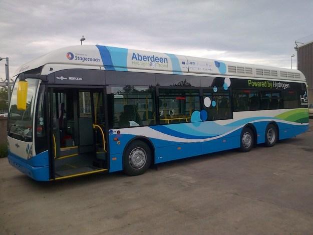 hydrogen bus in Aberdeen