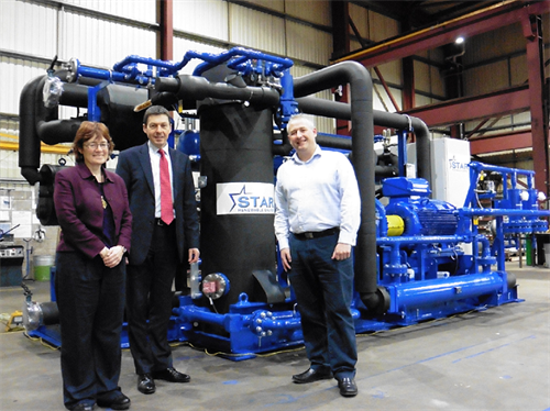 Star Renewables Heatpump with a couple of Members of the Scottish Parliament