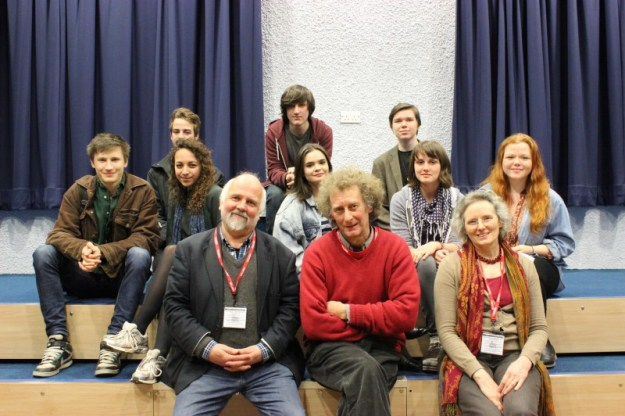 Glenn, David & Cathy from SHIFFT, with 6th form students.