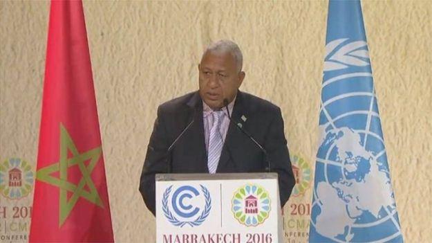 Fiji's Frank Bainimarama takes a leadership role on Climate Change