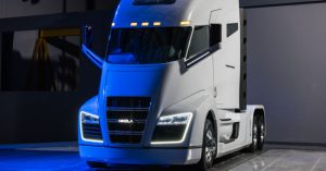 Nikola hydrogen fuel cell powered truck