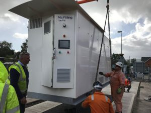 A hydrogen refuelling station arrives in Abergavenny